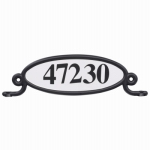 Solar Group MBPLAQ0B House Address Number Plaque Kit or Kitchen For Mailbox or Post, Reflective