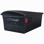 Solar Group RSKB0000 Mailsafe Post Mailbox With Lock, Black Galvanized Steel & Polymer, 9.5 x 13 x 23.5-In.