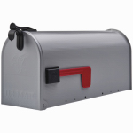 Solar Group ST100000 Stanley Post Mailbox, Silver Gray Galvanized Steel, 8.75 x 6.75 x 19-In.