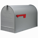 Solar Group ST200000 Stanley Post Mailbox, Silver Gray Galvanized Steel, Jumbo, 15 x 11.5 x 23.5-In.