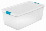 Sterilite 18898004 106-Qt. Storage Box with Latch - Must Order in Quantities of 4