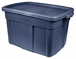 Rubbermaid 2212-CP-STEEL Roughneck Storage Tote, 14-Gals., Must Purchase in Quantities of 12