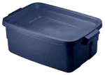 Rubbermaid 2213-00-STEEL Roughneck Storage Tote, 3-Gals., Must Purchase in Quantities of 12