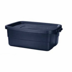 Rubbermaid 2214-TP-STEEL Roughneck Storage Tote, 10-Gals., Must Purchase in Quantities of 8
