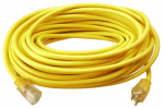 Ho Wah Gentin Kintron Sdnbhd 02587ME Extension Cord, 12/3, SJTW Yellow Round Vinyl, 25-Ft.