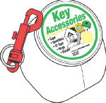 Hy-Ko Prod KT171 Key Snap With Split Ring, Plastic