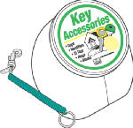Hy-Ko Prod KT153 25PK Coiled Key Ring