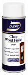 Deft/Ppg Architectural Fin DFT017S/54 Aerosol Satin Wood Finish, Clear, 13-oz.