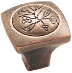 Amerock BP4475WC 1-1/8-Inch Copper Ambrosia Square Cabinet Knob
