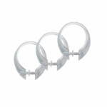 Ex-Cell Home Fashions 1ME-060O0-0064-960 Button-Up Shower Curtain Hook, Clear, 12-Pk.