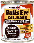 Zinsser & 03544 Bulls Eye Oil-Based Primer/Sealer & Stain Killer, 1-Qt.