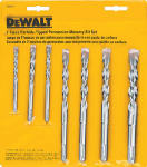 Dewalt Accessories DW5207 7-Piece Percussion Masonry Drill Bit Set