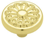 Brainerd Mfg Co/Liberty Hdw 69097 1.25-In. Brass Fan Round Cabinet Knob