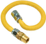 Brass Craft Service Parts CSSC12R-48 P Gas Connector, Coated Stainless Steel, 48-In., 1/2-In. I.D., 5/8-In. O.D.