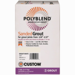 Custom Bldg Products PBG1657-4 7-Lb. Delorian Gray Sanded Polyblend Grout