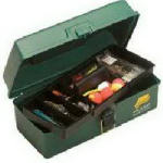 Plano Molding 1001-03 Tackle Box, 5-Compartment, Green