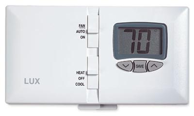 LUX DMH110 Digital Heat/Cool Thermostat, Manual Controls - Q