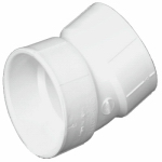 Charlotte Pipe & Foundry PVC 00324  1000HA Plastic Pipe Fitting, DWV  Elbow, PVC, 22-1/2 Degree, 3-In.
