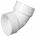 Charlotte Pipe & Foundry PVC 00319  1000HA Plastic Pipe Fitting, DWV  Elbow, PVC, 60 Degree, 3-In.