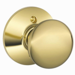 Schlage Lock F170 PLY 605 Bright Brass Dummy Lockset