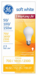 G E Lighting 81590 Halogen Light Bulb, 3-Way, 50/100/150-Watt, Must Purchase in Quantities of 6