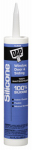 Dap 08641 Silicone Rubber Sealant, Clear, 9.8-oz.