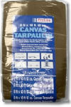 Intex Supply K-CT0810B Canvas Tarp, Tan/Brown, 8 x 10-Ft., 12-oz.