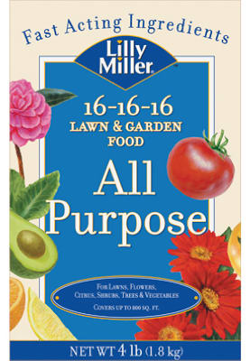 Lilly Miller 100099132 All-Purpose Lawn/Garden Food, 16-16-1
