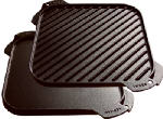 Lodge Mfg LSRG3 Reversible Griddle, Seasoned Cast Iron, 10-1/2-In.