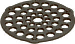 Lodge Mfg L8DOT3 Trivet/Meat Rack, Seasoned, 8-In.
