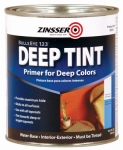 Zinsser & 2034 Zinsser Bulls Eye 1-2-3 Qt. Deep Tint Water Base Primer/Sealer & Stain Killer