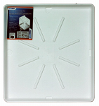 Camco Mfg 20752 Washing Machine Pan, White Polypropylene, 30 x 32-In.