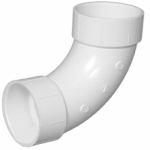 Charlotte Pipe & Foundry PVC 00304  0800HA Plastic Pipe Fitting, DWV  Long Sweep Elbow, 90 Degree, PVC, 2-In.