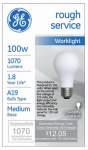 G E Lighting 72527 100-Watt Rough Service Light Bulb