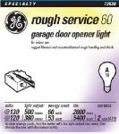 G E Lighting 72529 2-Pack 60-Watt Rough Service Light Bulb