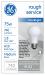 G E Lighting 72530 75-Watt Rough Service Bulb