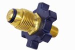 Mr Heater F276139 Propane Fitting, 1/4-In. Male Pipe Thread x Restricted Flow Soft Nose P.O.L.