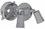 Hubbell Electrical Products LCR23N2 Gray Round Double Floodlight Holder Kit