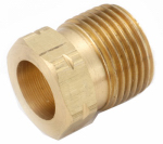 Anderson Metals 55221 Pipe Fittings, Standard Pol Nut, 7/8 Hex x 1-In. Long Propane Long Handled or Left Hand Thread