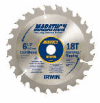 Irwin Industrial Tool 24020 6-1/2 Inch C3 Carbide-Tipped Marathon Saw Blade