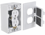 Hubbell Electrical Products FCD35-W White Duplex Outlet Kit
