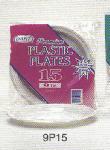 Dart Container 9P15 15-Count 9-Inch Premium Plastic Dinner Plates