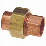 B&K W 68005 1-Inch Copper Union Wrot Tailpiece.