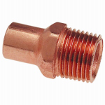 B&K W 61446 3/4-Inch Male Pipe Thread Wrot Copper Street Adapter