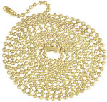 Westinghouse Lighting 70168 Beaded Chain, Brass, 5-Ft.