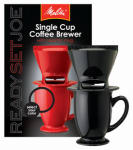 Melitta 64010 Pour Over One-Cup Ceramic Coffeemaker-Black