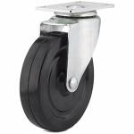 Shepherd Hdwe Prod 9787 5-Inch Soft Rubber Swivel Plate Caster