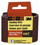 3M 9250-2 2-Pack 2.5 x 16-Inch 120-Grit Heavy-Duty Sanding Belt