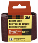 3M 9251-2 2-Pk., 2.5 x 16-In. 80-Grit Heavy-Duty Sanding Belt