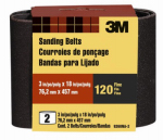 3M 9260NA-2 2-Pk., 3 x 18-In. 120-Grit Heavy-Duty Sanding Belt